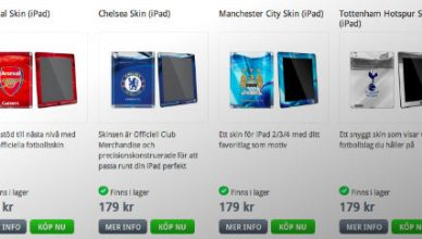 Skins iPad Premier League