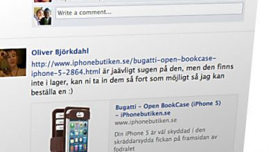 iPhonebutikens Facebooksida