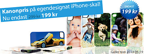 billiga egendesignade skal till iPhone