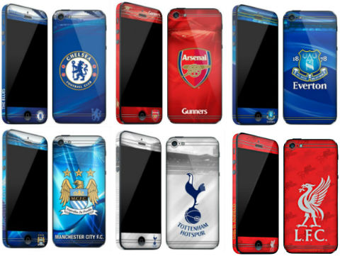 iPhone 5 skal med Premier League-loggor