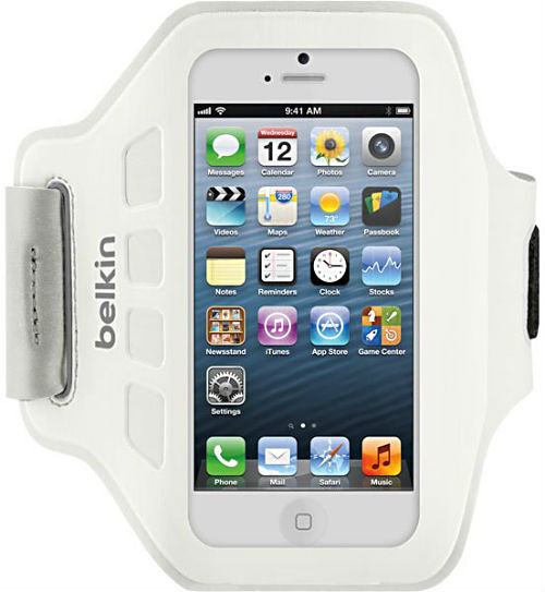 Belkin Easefit till iPhone 5 sportarmband vit